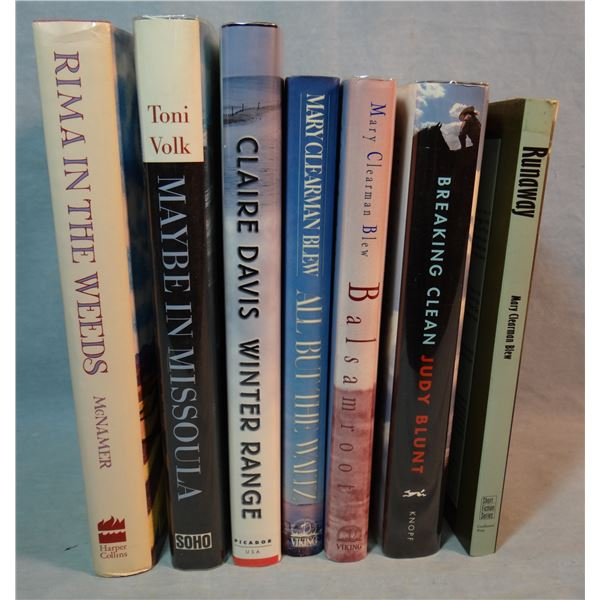 6 books by women authors: Clearman Blew, Mary: Runaway, All But The Waltz, Balsamroot;Breaking Clean