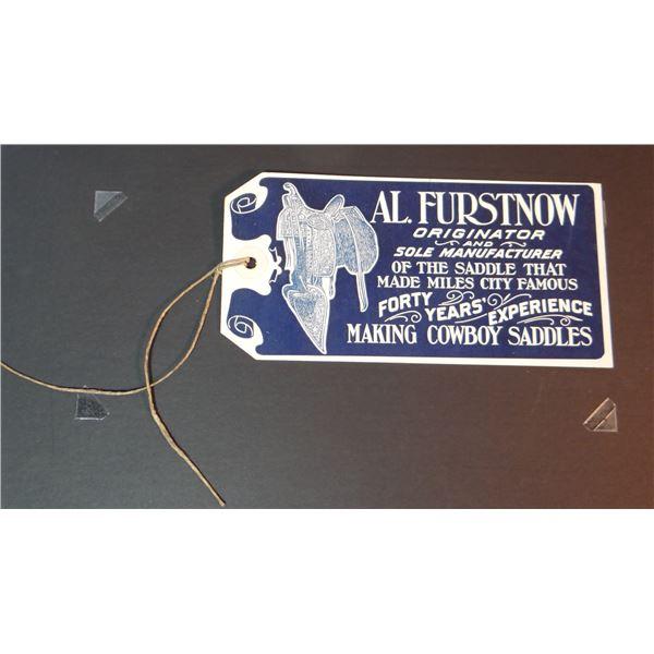Al Furstnow Saddlery catalog #40, excellent condition and Al Furstnow Saddlery saddle tag