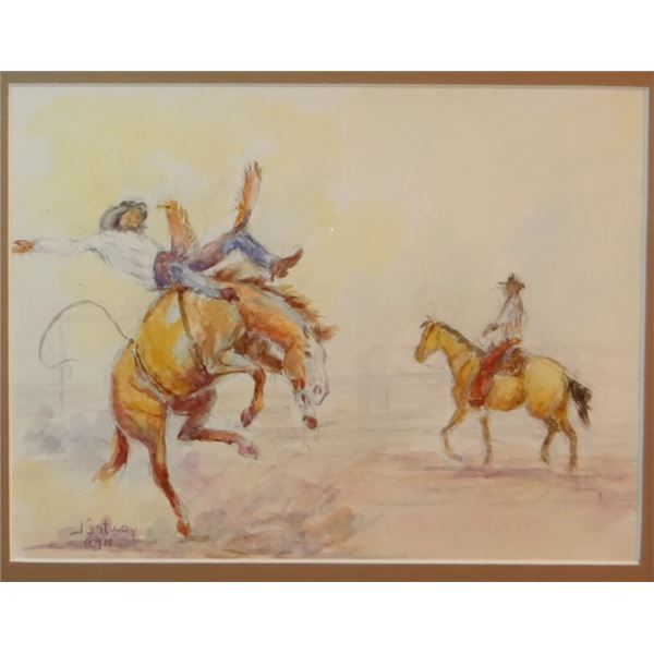 "Contway, Jay, Bareback Rider, water color, 10"" x 12"""