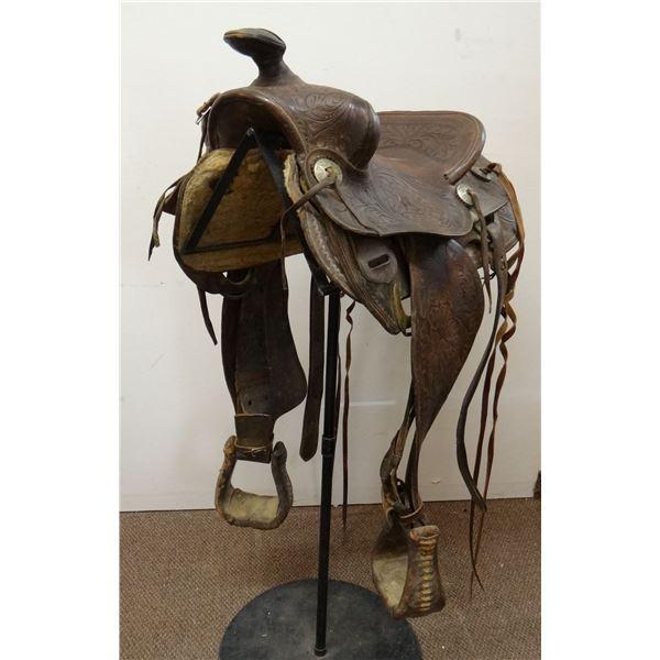 "Al Furstnow 14 1/2"" full tooled saddle"