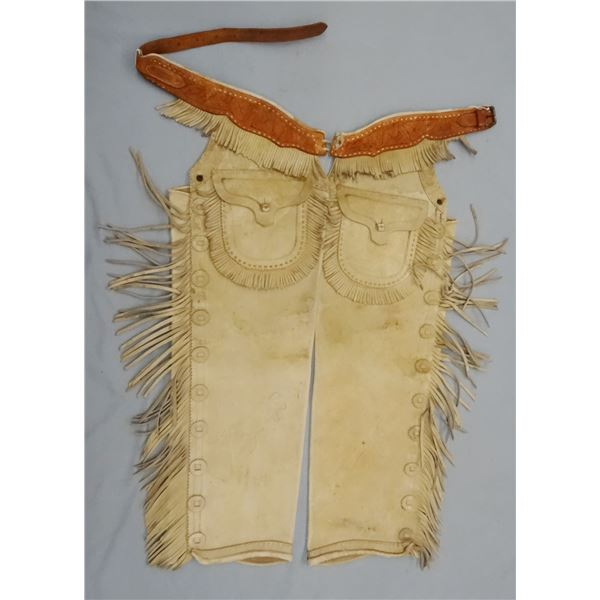 R. T. Frazier fringed chaps, excellent condition