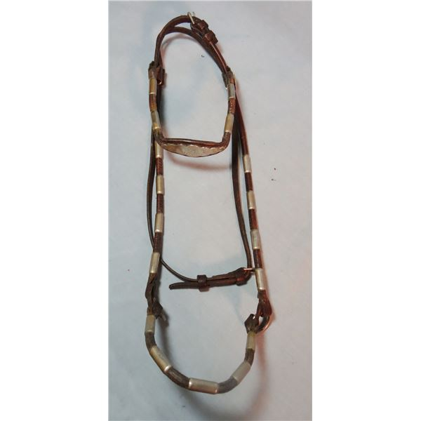 Billy Royal vintage headstall and Champion Turf Show Halter, sterling silver trimmed