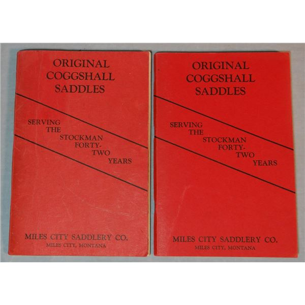 2 Miles City Saddlery catalogs, no date, red soft covers, near fine