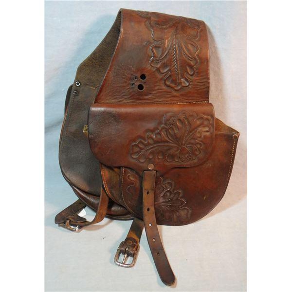 Al Furstnow Saddlery saddle bags, flower tooled
