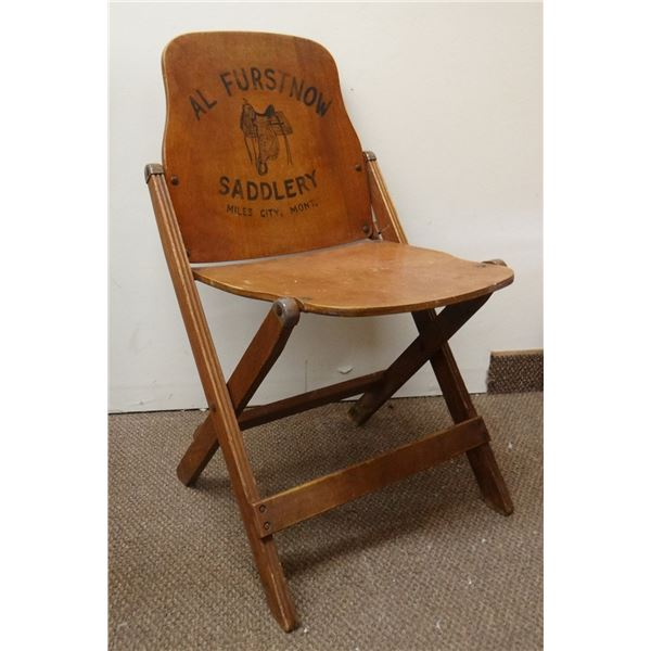 Al Furstnow Saddlery wooden folding chair