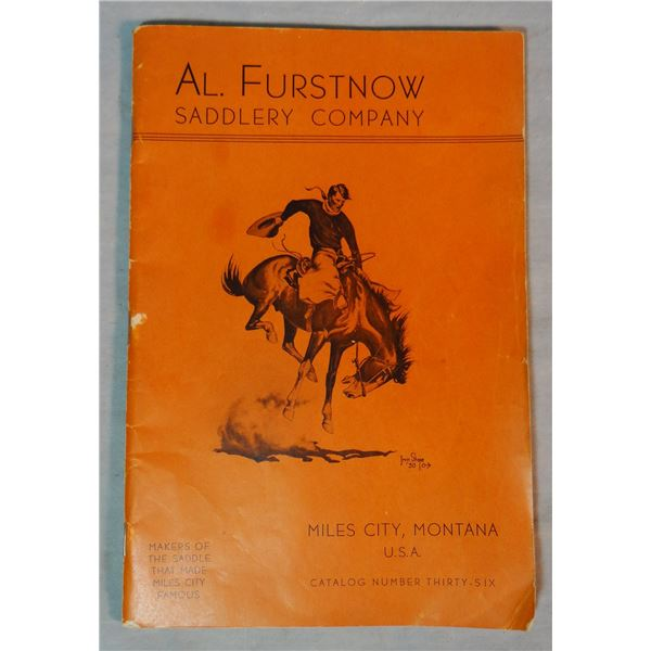 Al Furstnow Saddlery catalog #36, Shorty Shope drawing on cover, excellent condition
