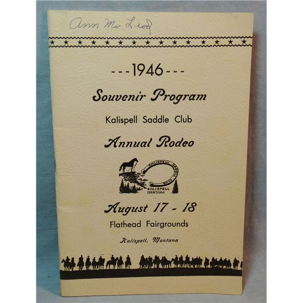 4 Butte, M. T. saddlery letterheads and 1946 Kalispell Saddle Club Rodeo program