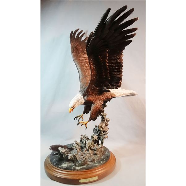 """Devito, Frank, bronze, On The Fly-Bald Eagle, 14/75, 24"""" h x 18"""" w x 8"""""""