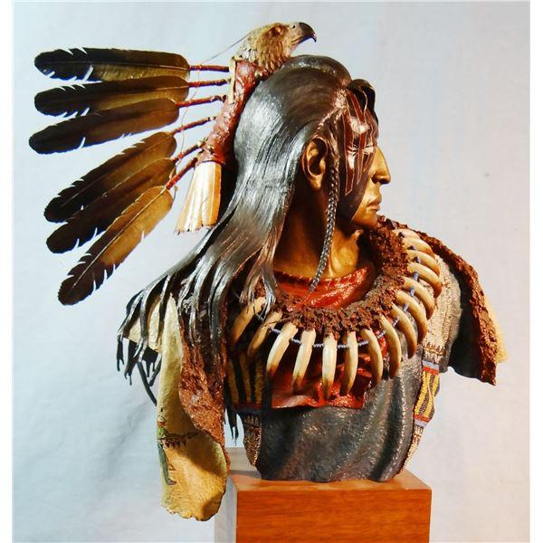 "McGary, Dave (1958-2013) bronze, Bounty of Gray Hawk, 30/75, 1978, 12"" x 13"" x 6"""