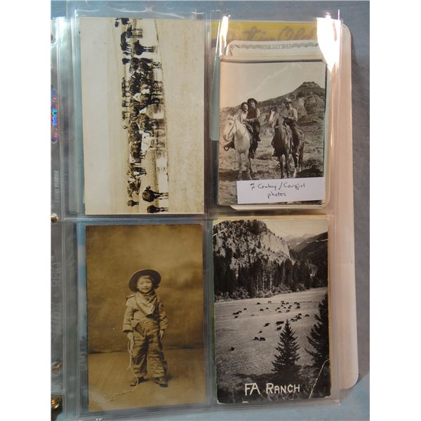 Album of 50 vintage cowboy/cowgirl photographs