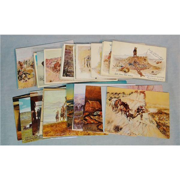 34 C. M. Russell & 18 L. A. Huffman postcards