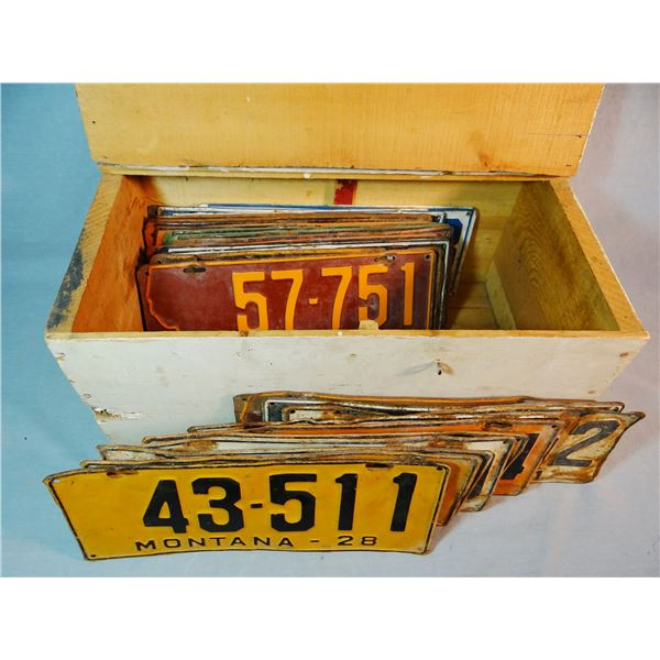 Montana vintage license plates, 1928-1941, most are pairs