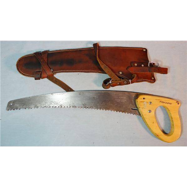 Fishker Saddle saw w/scabbard (made in Columbia Falls, MT)