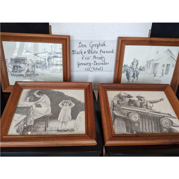12 Don Greytak prints, framed