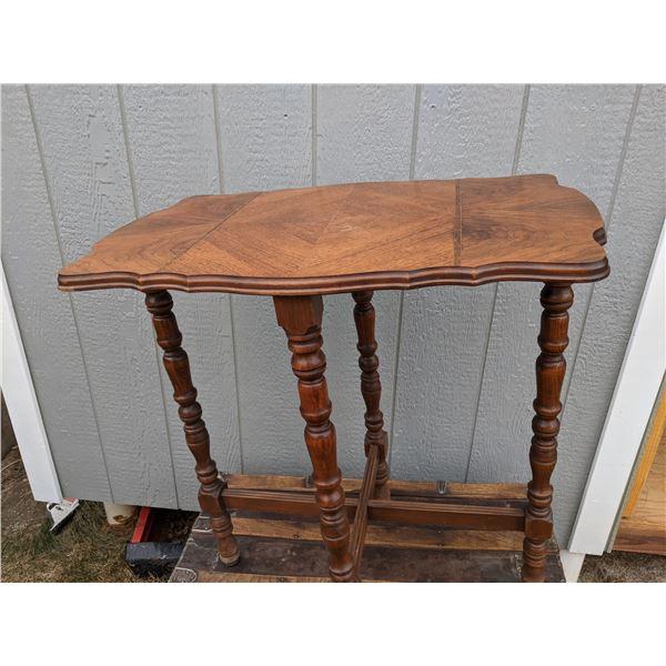 """Walnut parlor table, Voss Inn B&B in Bozeman MT. 28"""" x 18"""" x 30"""" tall"""