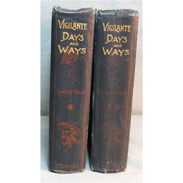 Langford, Nathanial, Vigilante Days & Ways, 1st, 1890, 2 vols., rare, good