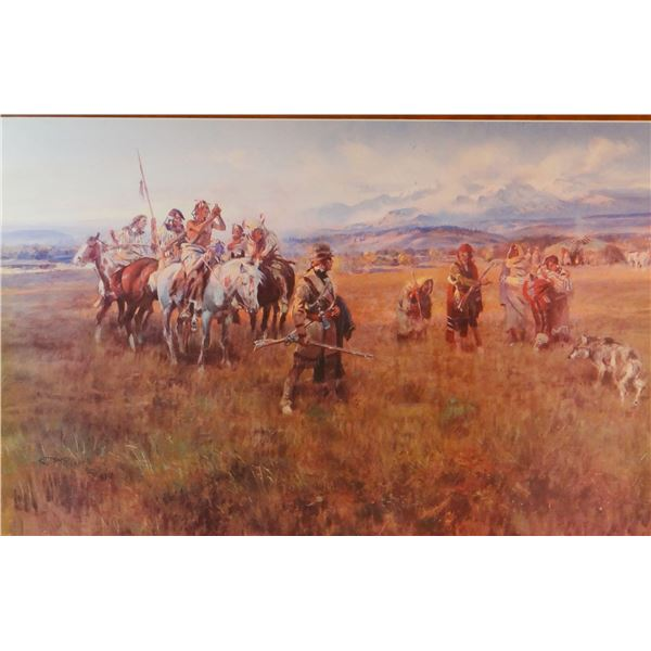 "C.M. Russell print of ""Lewis & Clark Expedition"" #261/500, from State Bank of Dillon"