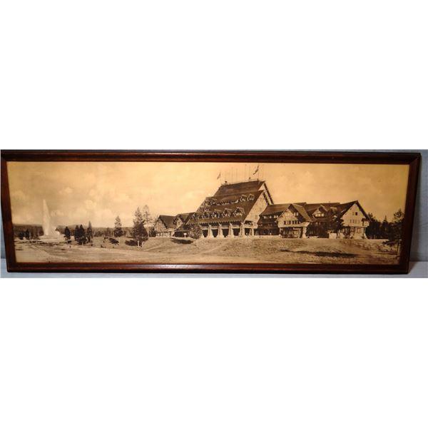 "Old Faithful Inn photo, YNP, circa 1904, 9"" X 30"""