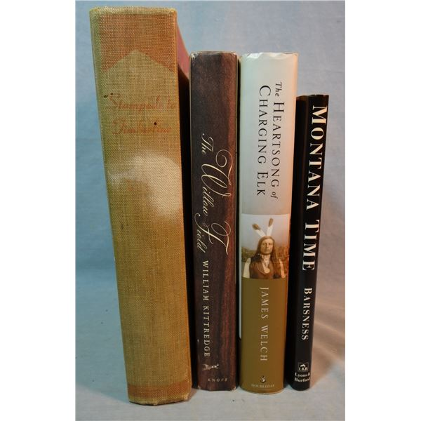 4 books: James Murphy The Heartsong of Charging Elk - James Welch,  The Willow Field, William Kitted