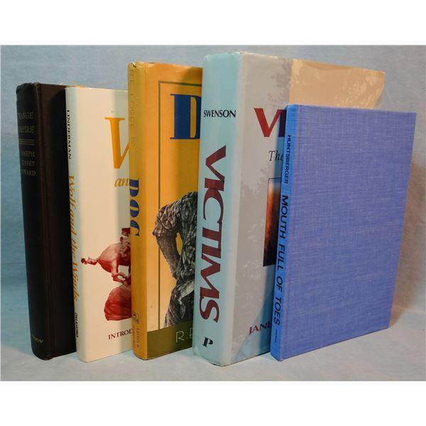 4 books: Strange Empire, Joseph Kinsey Howard, 1st, no dj; Wolf and The Winds, Frank Bird Linderman,