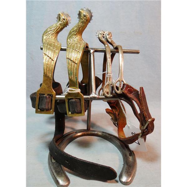 2 pair U. S. Cavalry-type spurs