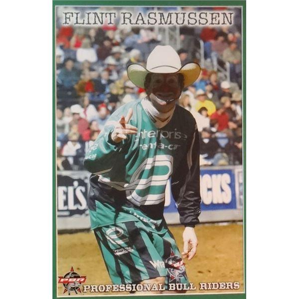 """Flint Rasmussen framed poster, 2006 PBR in Billings, MT, 17"""" x 12"""""""