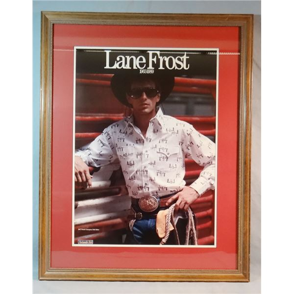 """Lane Frost photo print, 24"""" h x 1 6"""" w, #142/250 and Lane Frost photo collage, 24"""" x 32"""""""