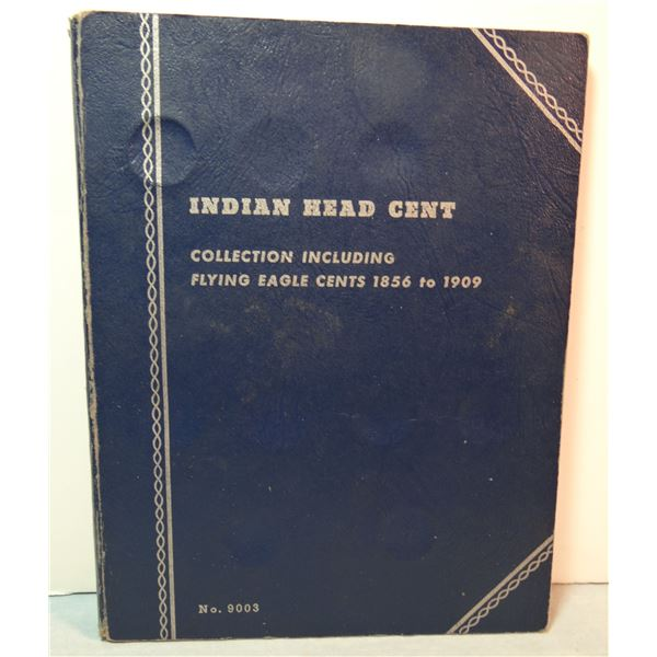38 Indian Head cents in album, circulated, 1909-1963