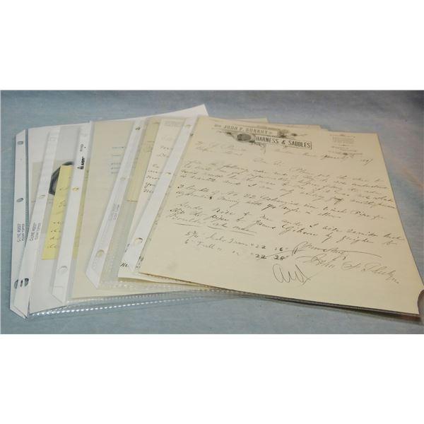 10 Montana saddlery letterheads, Boulder, Dillon, Chinook, Virginia City, Malta, Red Lodge, 3 Great