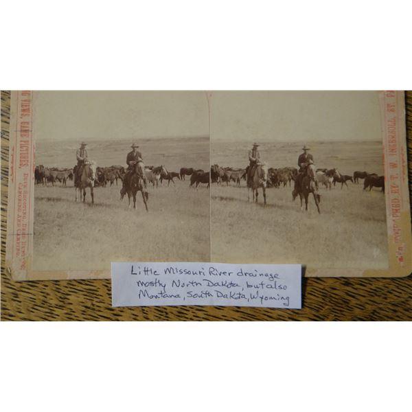 2 Vintage cowboy photos, North Dakota and Montana