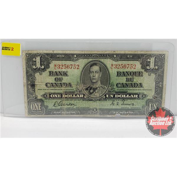Canada $1 Bill 1937 : Gordon/Towers #ML3256752