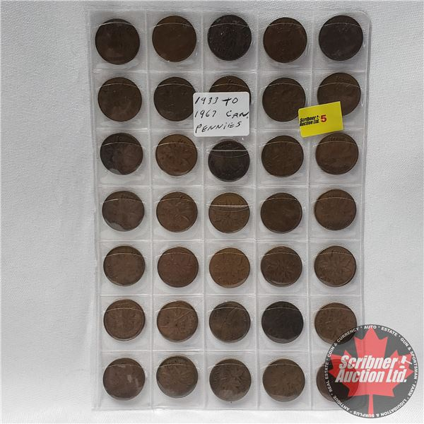 Canada Small Cent Collection (35 Coins) 1930's - 1960's