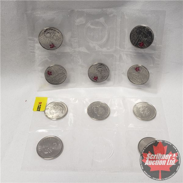 Canada Twenty Five Cent - Mint Packages (deSalaberry Color & deSalaberry Non-Color)