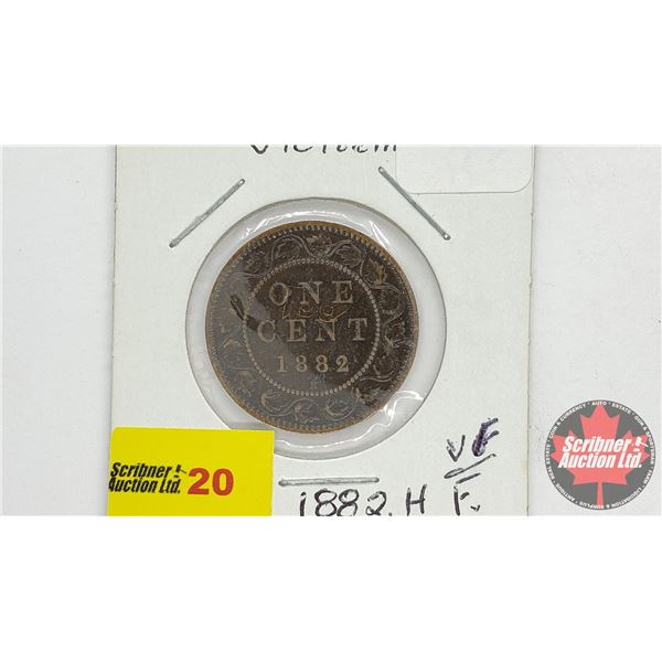 Canada Large Cent 1882H