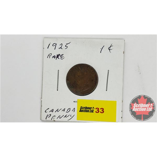 Canada One Cent 1925