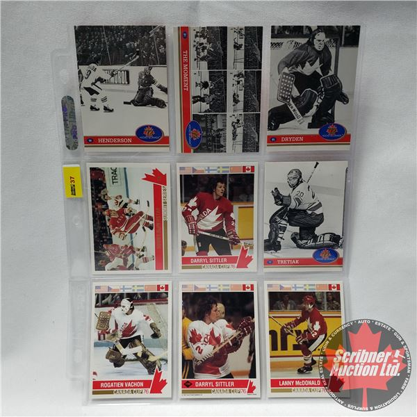 Hockey Cards 1991/92 - Sheet of 9: Henderson, The Moment, Dryden, Soviet Superstar, Darryl Sittler (