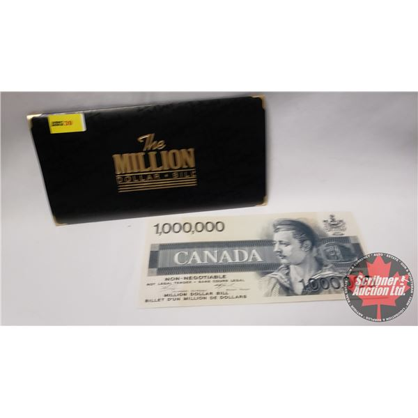 The Story of the Million Dollar Bill in Folder with Bill