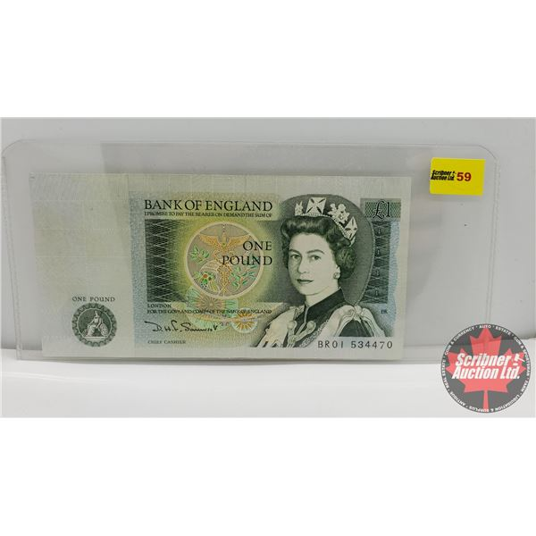 Bank of England One Pound Note