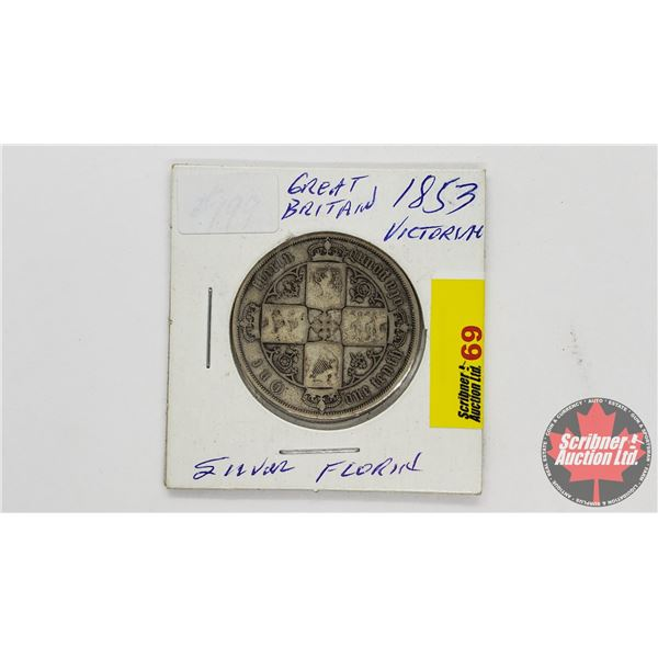 One Florin One Tenth of a Pound 1853 Great Britain - Victoria