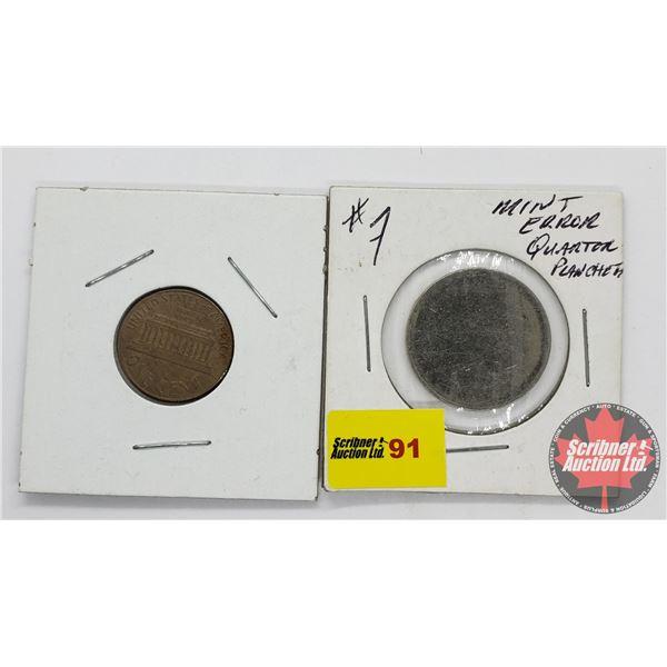 Mint Errors - Blank Planchet (2 Coins)