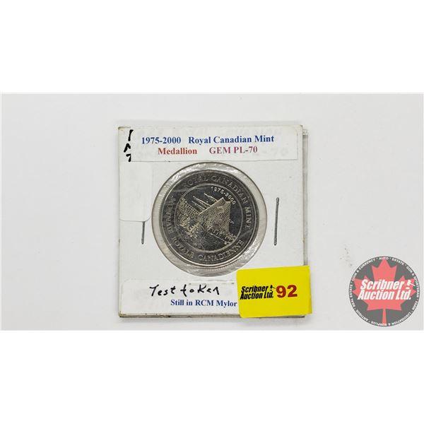 Test Token (in RCM Mylor) 1975-2000 RCM Medallion