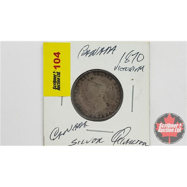 Canada Twenty Five Cent 1870