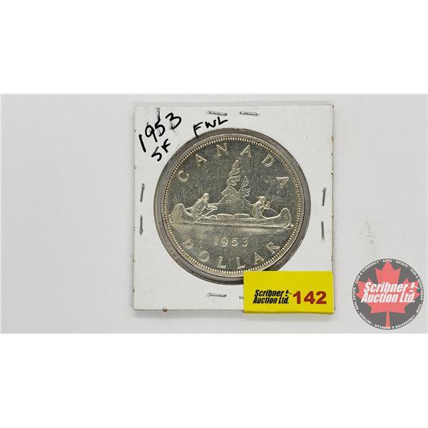 Canada Silver Dollar 1953SF FWL