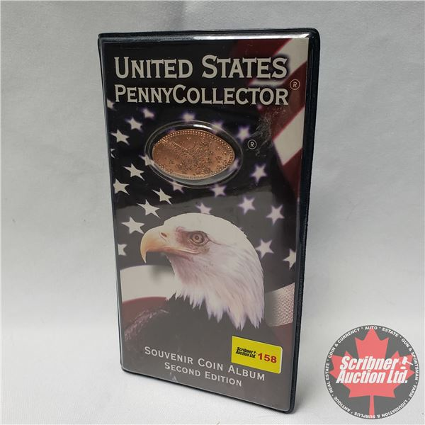 United States Penny Collector Souvenir Coin Album Second Edition (comes with collection of 21 elonga