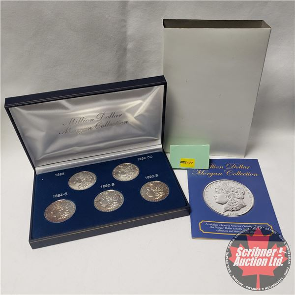 """Million Dollar Morgan Collection"" Five Proof Coin Set"