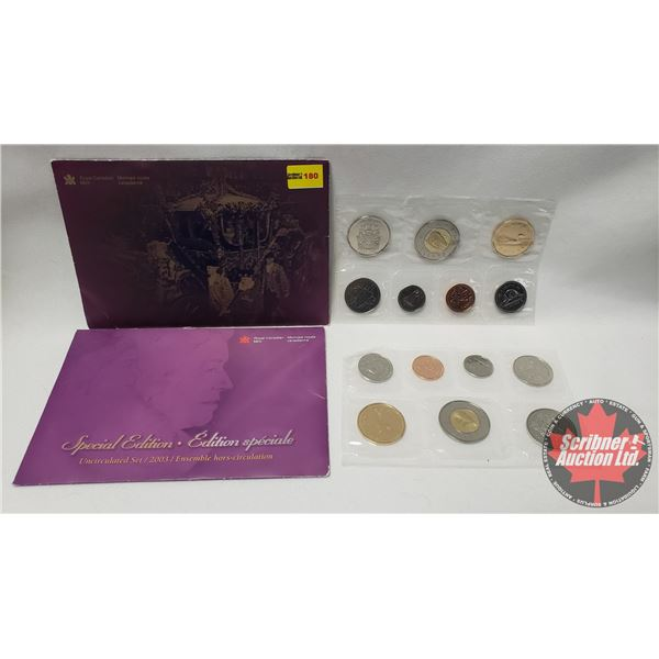 RCM Uncirculated Coin Sets (2) : 2002; 2003