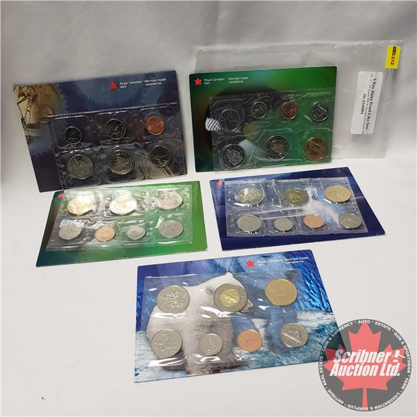 Canada Proof Like Uncirculated Coin Sets (5): 1998W; 1999; 1999P; 2000; 2000