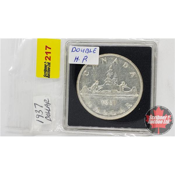 Canada Silver Dollar 1937 DHP
