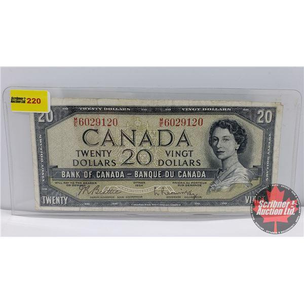Canada $20 Bill 1954 : Beattie/Rasminsky #ME6029120