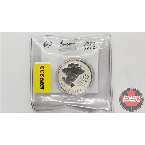 Canada 1952-2012 Proof $20 Dollars (.9999)